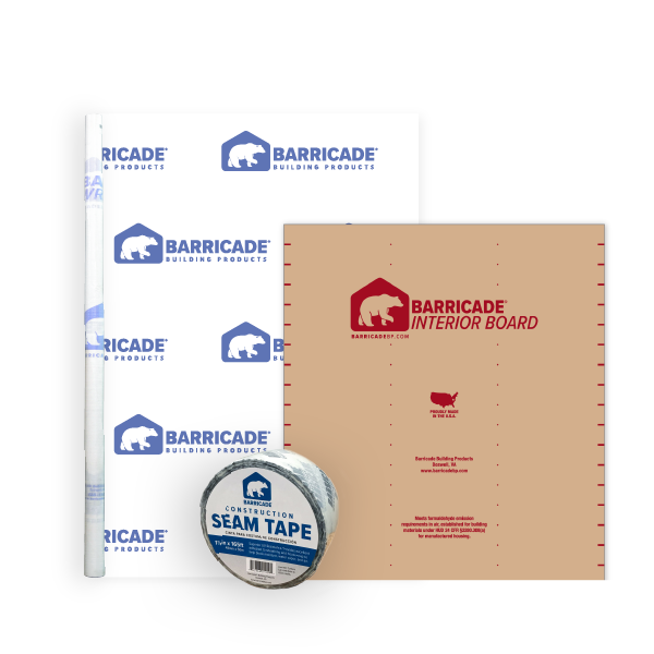 Barricade House Wrap System with Interior Board