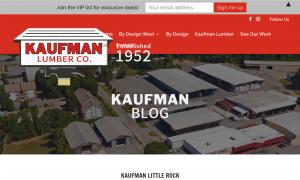 Kaufman Lumber Co Blog