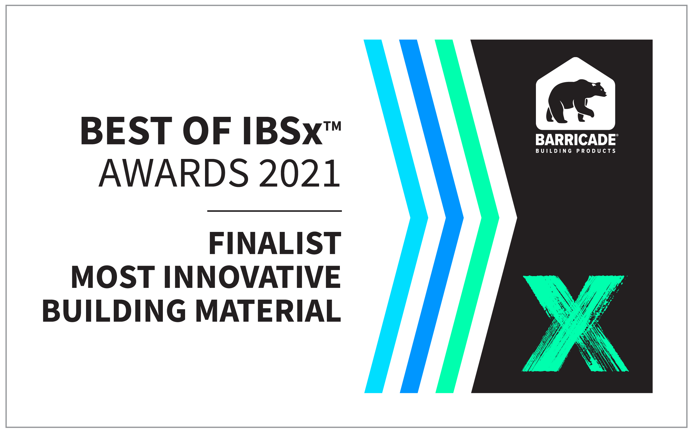 Finalist for Most Innovative Building Material in IBSx